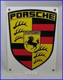 Vintage Metal/Porcelain Porsche Sign Original