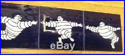 Vintage Michelin Bibendum giving a hand Set Of 5 Ceramic Garage Tiles