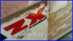 Vintage Michelin Tyres Motoring Sign Tin plate printed graphics 70's