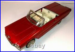 Vintage Mid-1960's Tin Lithograph 1965 Ford Thunderbird Convertible