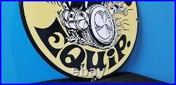 Vintage Moon Eyes Automobile Porcelain Gas Service Station Pump Drag Race Sign