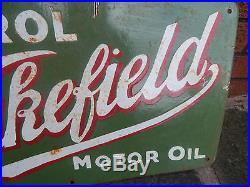 Vintage OLD ENAMEL CASTROL SIGN ADVERTISING Oil EXTREMELY RARE Motor CAR GARAGE