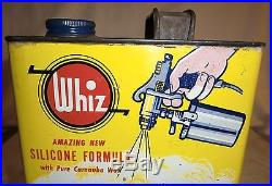 Vintage ONE GALLON WHIZ LUSTERIZE CAR WAX TIN CAN Auto Automobile Gas Oil