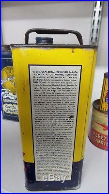 Vintage ONE GALLON WHIZ LUSTERIZE CAR WAX TIN CAN NICE ONE