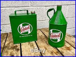 Vintage Oil Can collection, Castrol, Man Cave, Games Room, 1900s oil jug