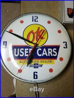 Vintage Ok Used Car Clock