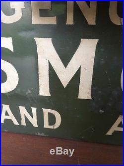 Vintage Oldsmobile Bottom Flange Tin Sign 36 x 7 1930s