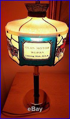 Vintage Oldsmobile Dealer Showroom Desk Lamp Tiffany Style Light Wall Sconce