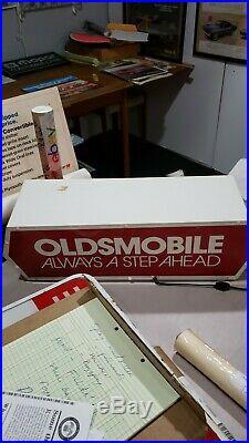 Vintage Oldsmobile Sign Lighted