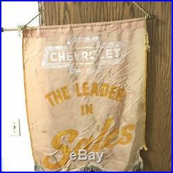 Vintage Original 1930s Chevrolet Chevy Dealer Showroom Banner Sign