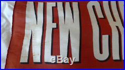 Vintage Original 1940's Chevrolet Chevy Dealer Showroom Banner Sign 40 x 27