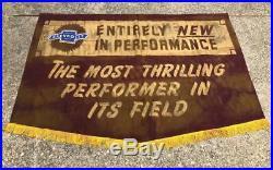 Vintage Original 1940's Chevrolet Chevy Dealer Showroom Banner Sign Performance