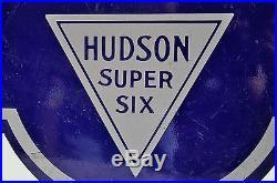Vintage Original 2 SIDED Hudson Essex Porcelain Sign 48X24