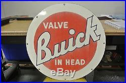Vintage Original Buick Valve In Head Porcelain Sign No Reserve