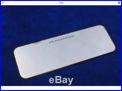 Vintage Original Chevy Script Visor Vanity Mirror Comb Pocket Accessory Impala