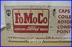 Vintage Original Ford FoMoCo Genuine Parts Display Cabinet No Reserve
