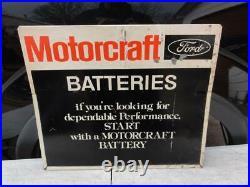 Vintage Original Ford Motorcraft Batteries Single Sided Rack Sign Mustang F150