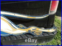 Vintage Original Left Facing Aluminum Greyhound Bus Sign Gas Oil