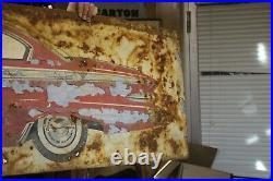 Vintage Original Plymouth Fury Tin Car Sign Metal Advertising Dealer Metal Garag