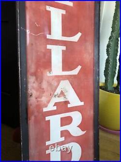 Vintage Original Willard Batteries Advertising Sign Car Gas Oil Display Auto
