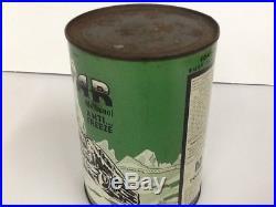 Vintage POLAR ANTI-FREEZE 1 Qt. METAL CAN RARE Advertisement Classic Car oil