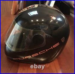 Vintage PORSCHE ceramic racing Helmet Paper Weight Ashtray RARE Collectible
