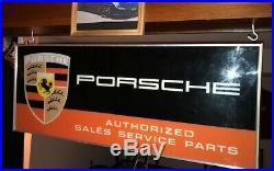 Vintage PORSCHE dealership sign
