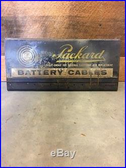 Vintage Packard Car Auto Battery Cable Advertising Display Gas Service Station