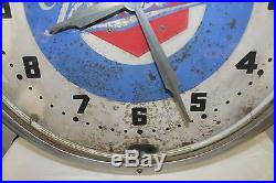 Vintage Packard Dealership Neon Advertising Clock 20 Diameter