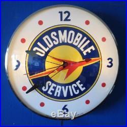 Vintage Pam OLDSMOBILE SERVICE Lighted Advertising Clock