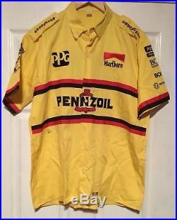 Vintage Penske Rick Mears Pennzoil Indy Car Team Issued Crew Shirt Size Lg