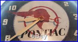 Vintage Pontiac Dealer Neon Clock