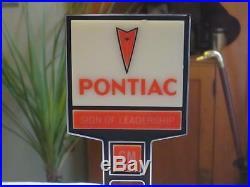 Vintage Pontiac GM Dealers Sign 2 sided Promotional Advertising Salesmans