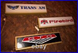 Vintage Pontiac GTO Sign