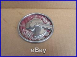 Vintage Pontiac Indian Automotive Embossed Sign Emblem Disk