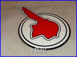 Vintage Pontiac Indian Chief 12 Metal Car & Truck Dealer Gasoline & Oil Sign