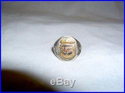 Vintage Pontiac Service Craftsman Award Ring Pontiac Advertising Memorabilia