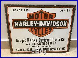 Vintage Porcelain Harley-Davidson Enamel Sign