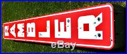 Vintage Porcelain Neon Rambler Automotive Dealership Sign from the 1950s