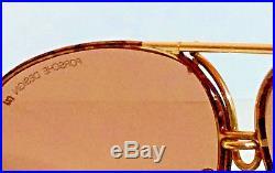 Vintage Porsche Carrera Sunglasses Porsche Design 1980s Tortoise Gold Aviator LN