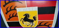 Vintage Porsche Porcelain Gas Auto Vehicle Stuttgart Germany Service Dealer Sign