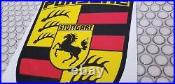 Vintage Porsche Porcelain Gas Auto Vw German Service Station Dealership Sign