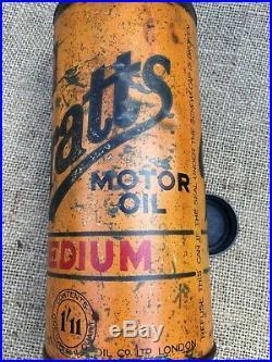 Vintage Pratts Motor Oil 1 Quart Oil Can Motor Oil Tin 1/11d Vintage Car Museum
