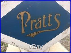 Vintage Pratts Petrol Pump Globe Automobilia Garage