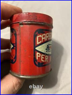 Vintage RARE Italian Auto Antique Racing Car Graphic Oil Can Tin Arexons