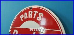 Vintage Rambler Porcelain Gas Automobile Service Station Dealership Sign