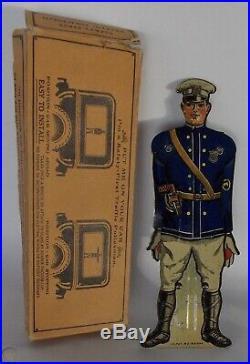 Vintage Safety First Cop Policeman Safety Brake Car Stop Light Sign Rat Rod Hot