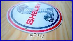 Vintage Shelby Cobra Porcelain Enamel 11 3/4'' Sign Gas Oil Pump Plate Race Car