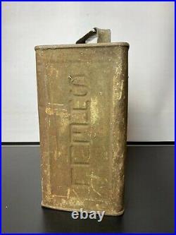 Vintage Shell Aviation Spirit Valor Fuel Petrol Oil Can & Brass Lid