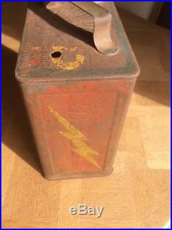 Vintage Shell & Mex petrol can 1930, s